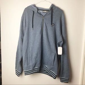 Men's vans blue zip up hoodie NWT Sz M